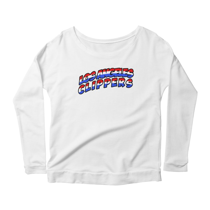 The Other Team in LA Women's Scoop Neck Longsleeve T-Shirt by Mike Hampton's T-Shirt Shop