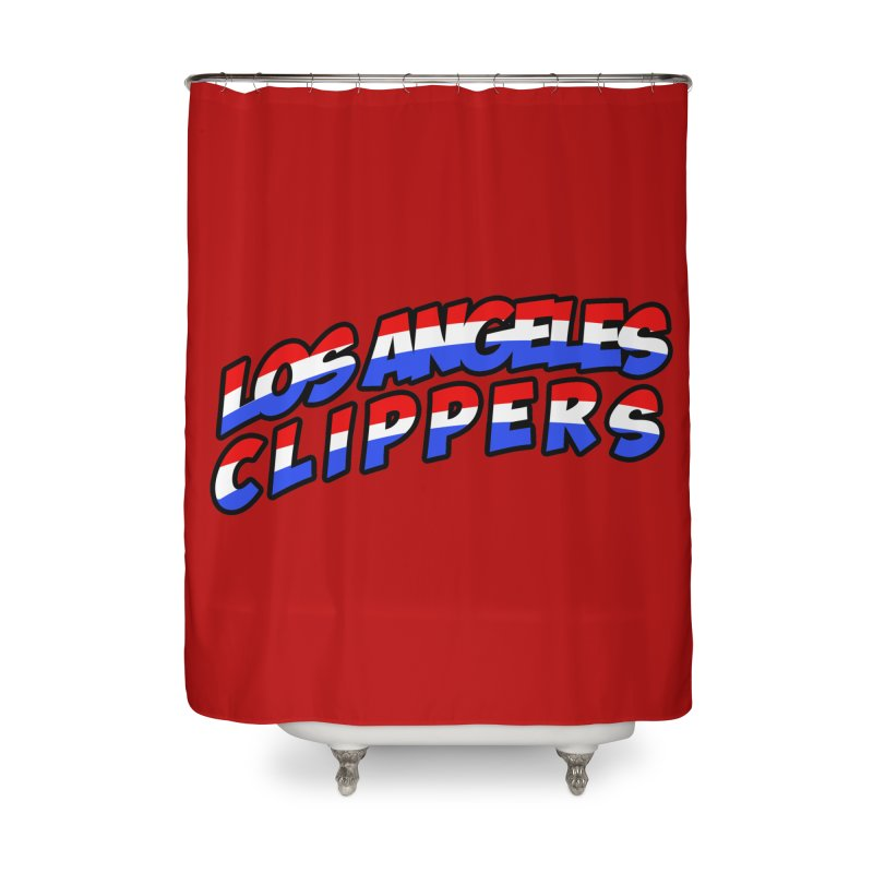 The Other Team in LA Home Shower Curtain by Mike Hampton's T-Shirt Shop