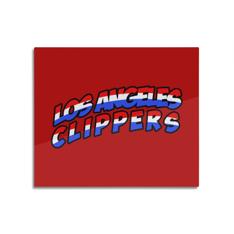 The Other Team in LA Home Mounted Aluminum Print by Mike Hampton's T-Shirt Shop
