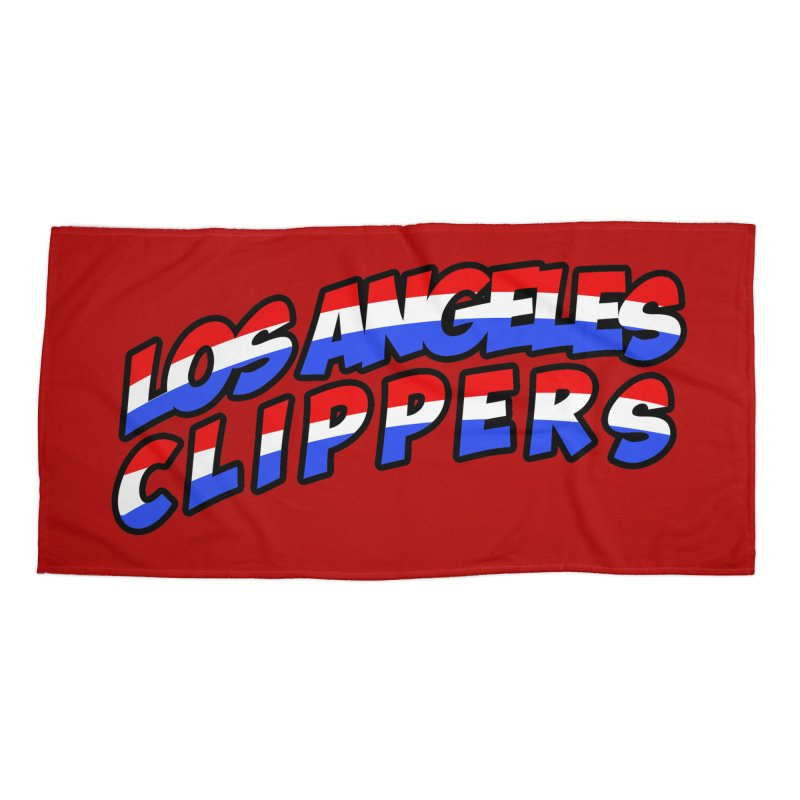 The Other Team in LA Accessories Beach Towel by Mike Hampton's T-Shirt Shop
