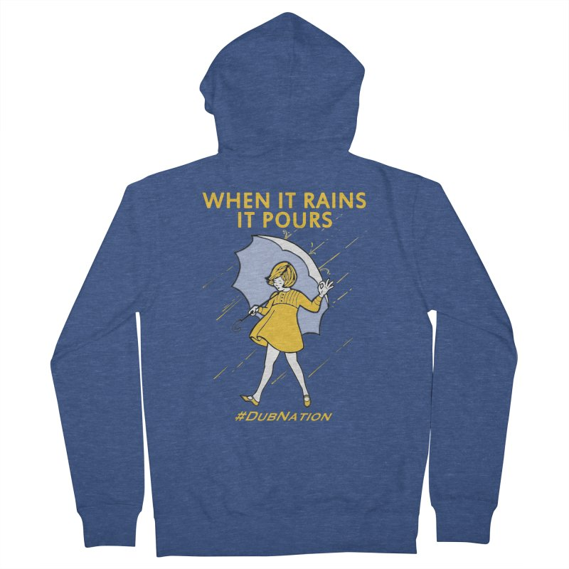 In the Bay When it Rains, it Pours Men's Zip-Up Hoody by Mike Hampton's T-Shirt Shop