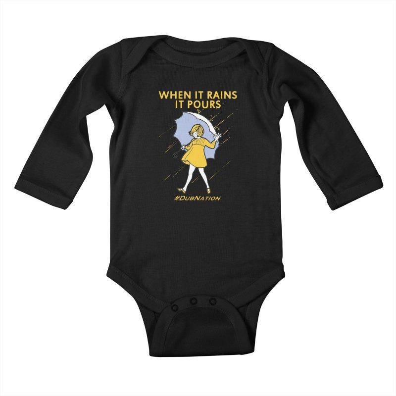 In the Bay When it Rains, it Pours Kids Baby Longsleeve Bodysuit by Mike Hampton's T-Shirt Shop