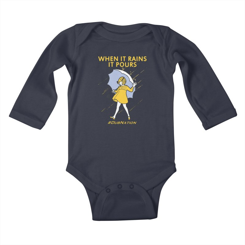 In the Bay When it Rains, it Pours Kids Baby Longsleeve Bodysuit by Mike Hampton's T-Shirt Shop