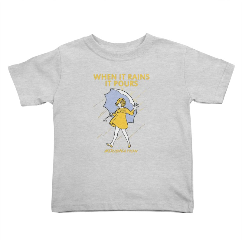 In the Bay When it Rains, it Pours Kids Toddler T-Shirt by Mike Hampton's T-Shirt Shop