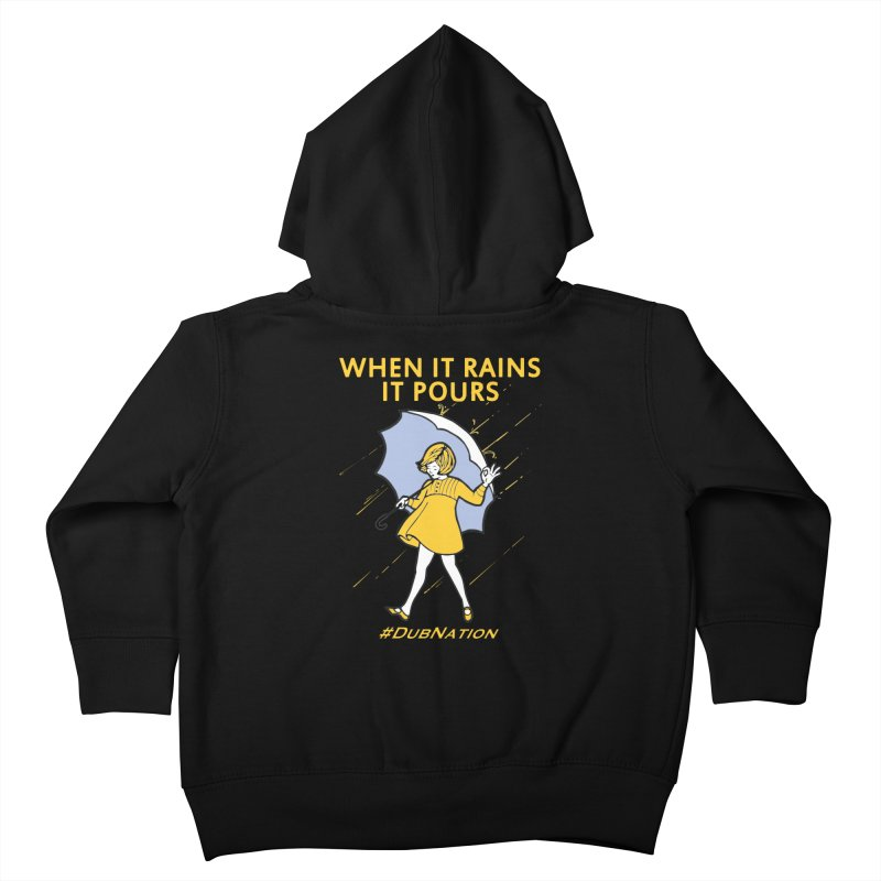 In the Bay When it Rains, it Pours Kids Toddler Zip-Up Hoody by Mike Hampton's T-Shirt Shop