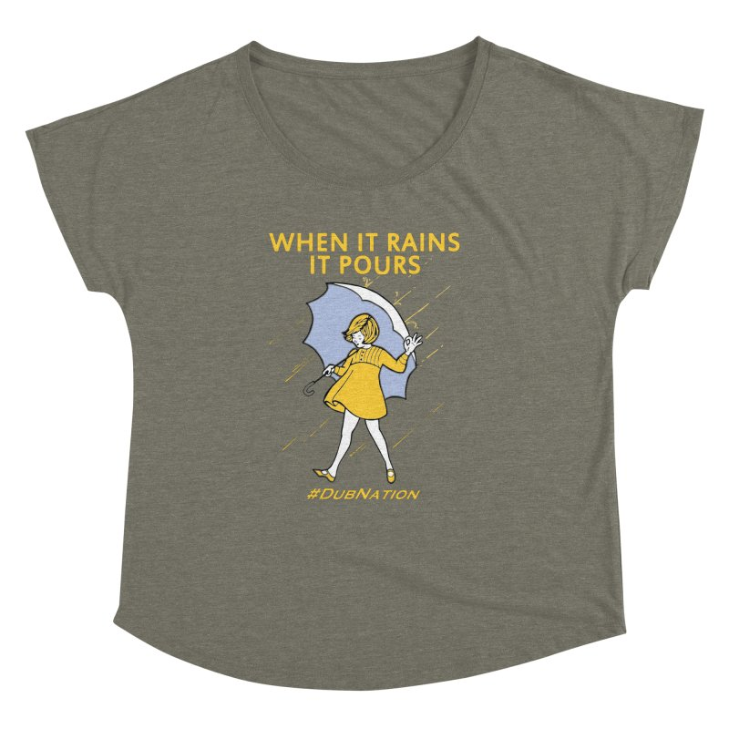 In the Bay When it Rains, it Pours Women's Scoop Neck by Mike Hampton's T-Shirt Shop