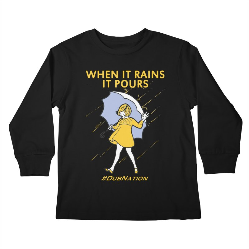 In the Bay When it Rains, it Pours Kids Longsleeve T-Shirt by Mike Hampton's T-Shirt Shop