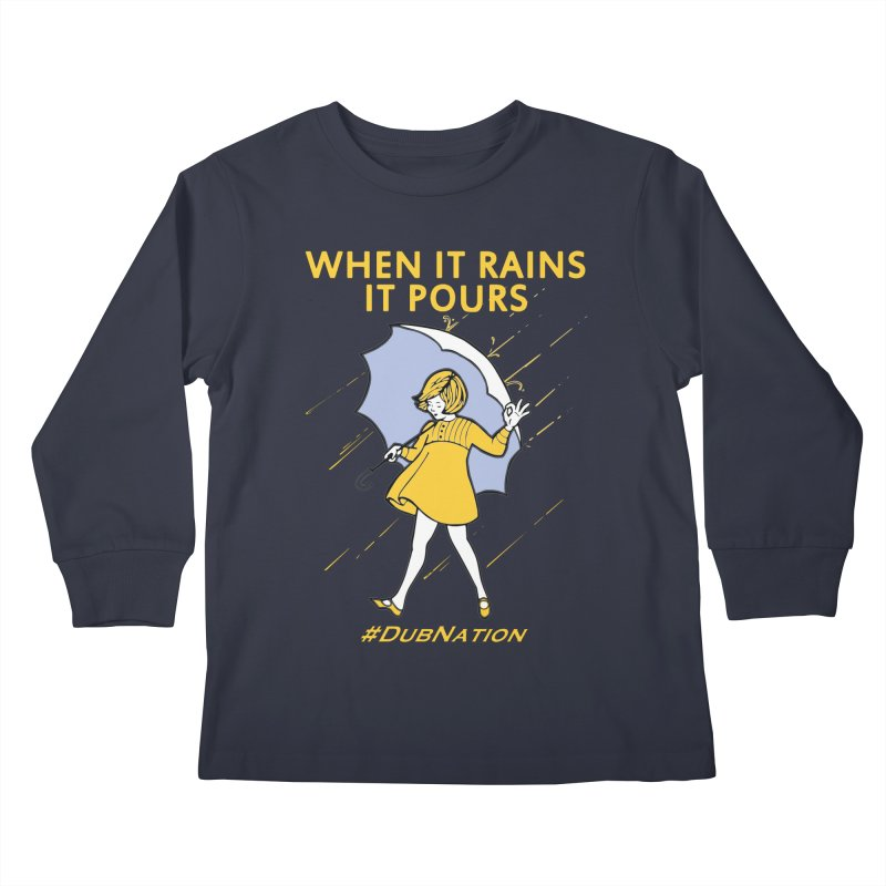In the Bay When it Rains, it Pours Kids Longsleeve T-Shirt by Mike Hampton's T-Shirt Shop
