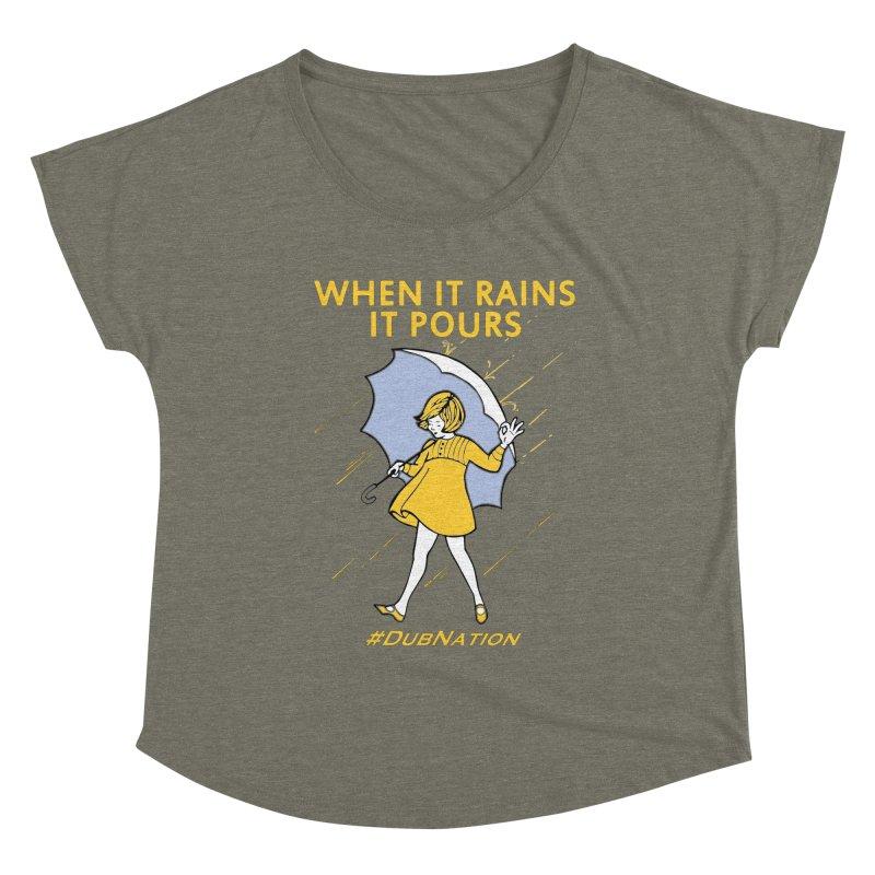 In the Bay When it Rains, it Pours Women's Scoop Neck by Mike Hampton's T-Shirt Shop