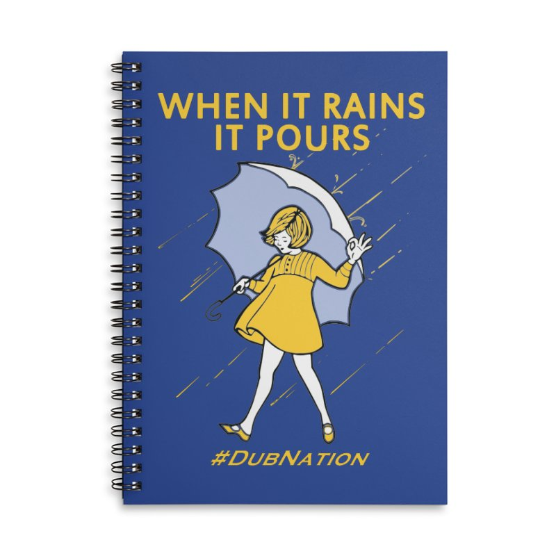 In the Bay When it Rains, it Pours Accessories Lined Spiral Notebook by Mike Hampton's T-Shirt Shop