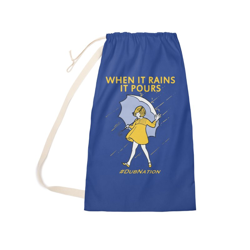 In the Bay When it Rains, it Pours Accessories Laundry Bag Bag by Mike Hampton's T-Shirt Shop