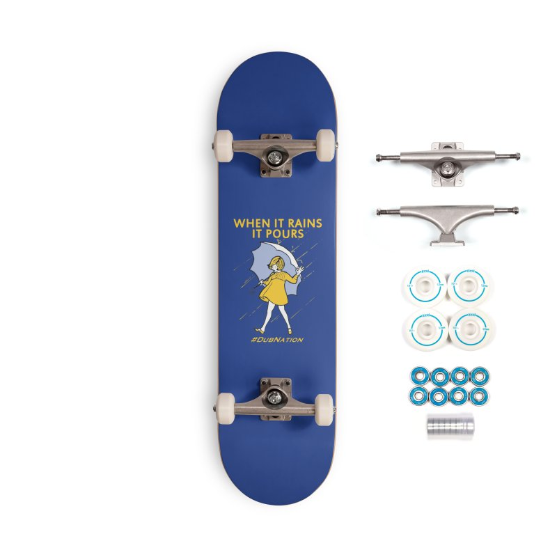 In the Bay When it Rains, it Pours Accessories Complete - Basic Skateboard by Mike Hampton's T-Shirt Shop