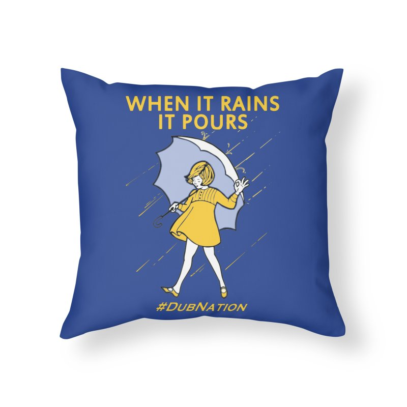 In the Bay When it Rains, it Pours Home Throw Pillow by Mike Hampton's T-Shirt Shop