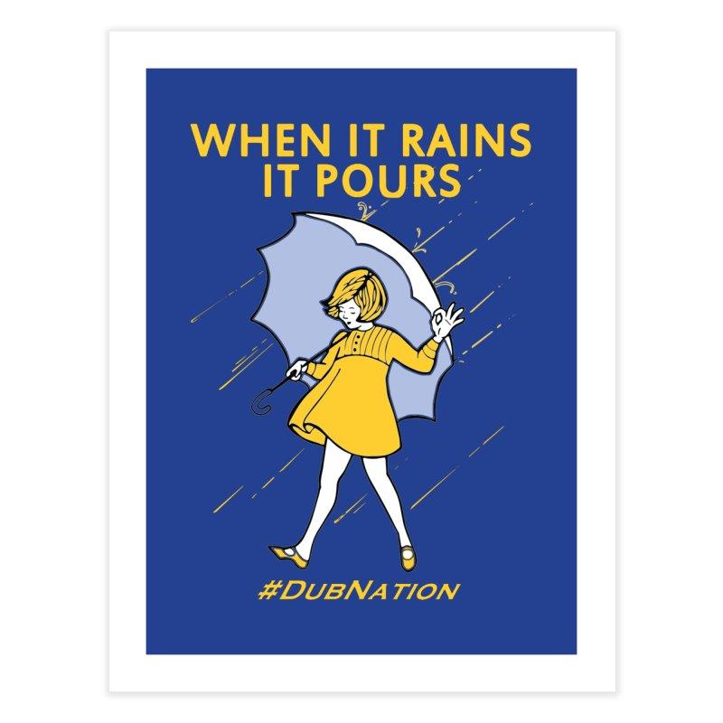 In the Bay When it Rains, it Pours Home Fine Art Print by Mike Hampton's T-Shirt Shop