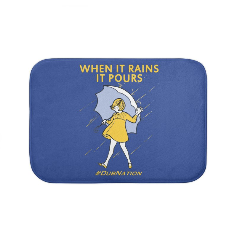 In the Bay When it Rains, it Pours Home Bath Mat by Mike Hampton's T-Shirt Shop