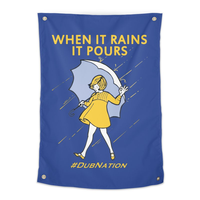 In the Bay When it Rains, it Pours Home Tapestry by Mike Hampton's T-Shirt Shop