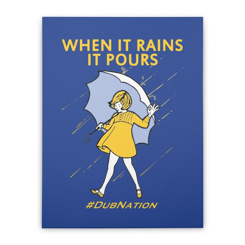 In the Bay When it Rains, it Pours Home Stretched Canvas by Mike Hampton's T-Shirt Shop