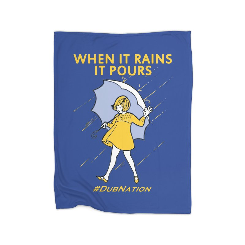 In the Bay When it Rains, it Pours Home Fleece Blanket Blanket by Mike Hampton's T-Shirt Shop