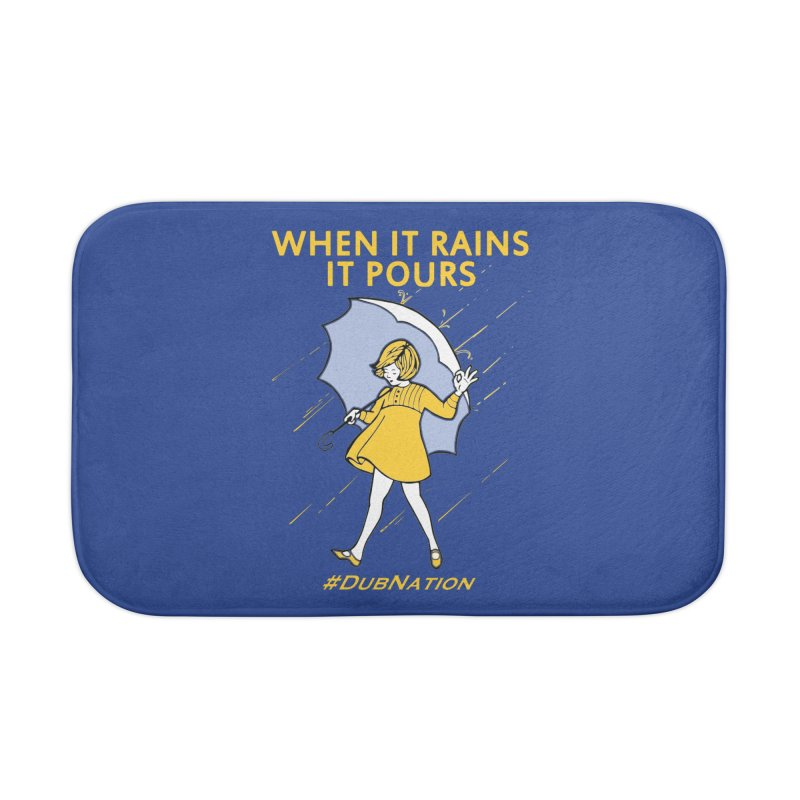 In the Bay When it Rains, it Pours Home Bath Mat by Mike Hampton's T-Shirt Shop