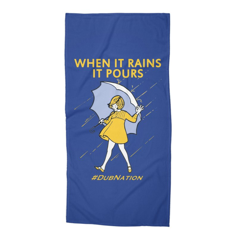 In the Bay When it Rains, it Pours Accessories Beach Towel by Mike Hampton's T-Shirt Shop