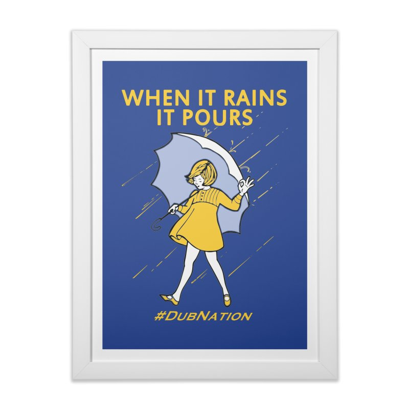 In the Bay When it Rains, it Pours Home Framed Fine Art Print by Mike Hampton's T-Shirt Shop