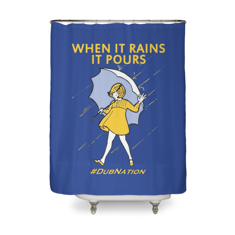 In the Bay When it Rains, it Pours Home Shower Curtain by Mike Hampton's T-Shirt Shop