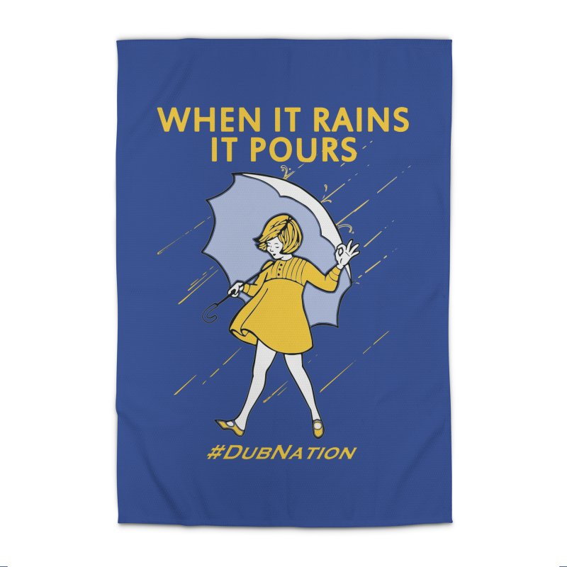 In the Bay When it Rains, it Pours Home Rug by Mike Hampton's T-Shirt Shop