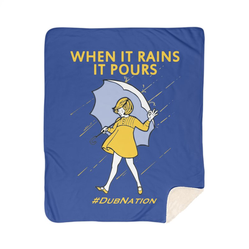 In the Bay When it Rains, it Pours Home Sherpa Blanket Blanket by Mike Hampton's T-Shirt Shop