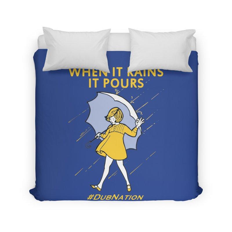 In the Bay When it Rains, it Pours Home Duvet by Mike Hampton's T-Shirt Shop