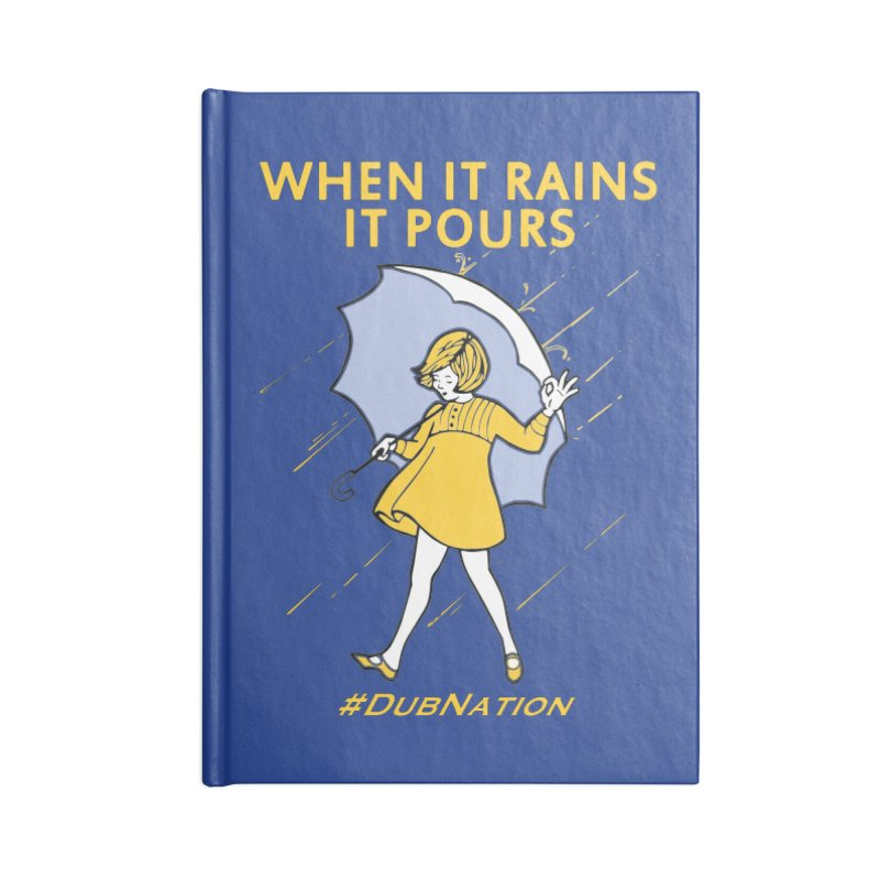 In the Bay When it Rains, it Pours Accessories Lined Journal Notebook by Mike Hampton's T-Shirt Shop