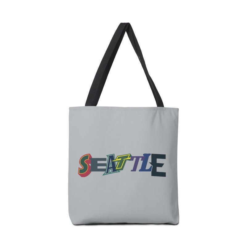 All Things Seattle Accessories Tote Bag Bag by Mike Hampton's T-Shirt Shop