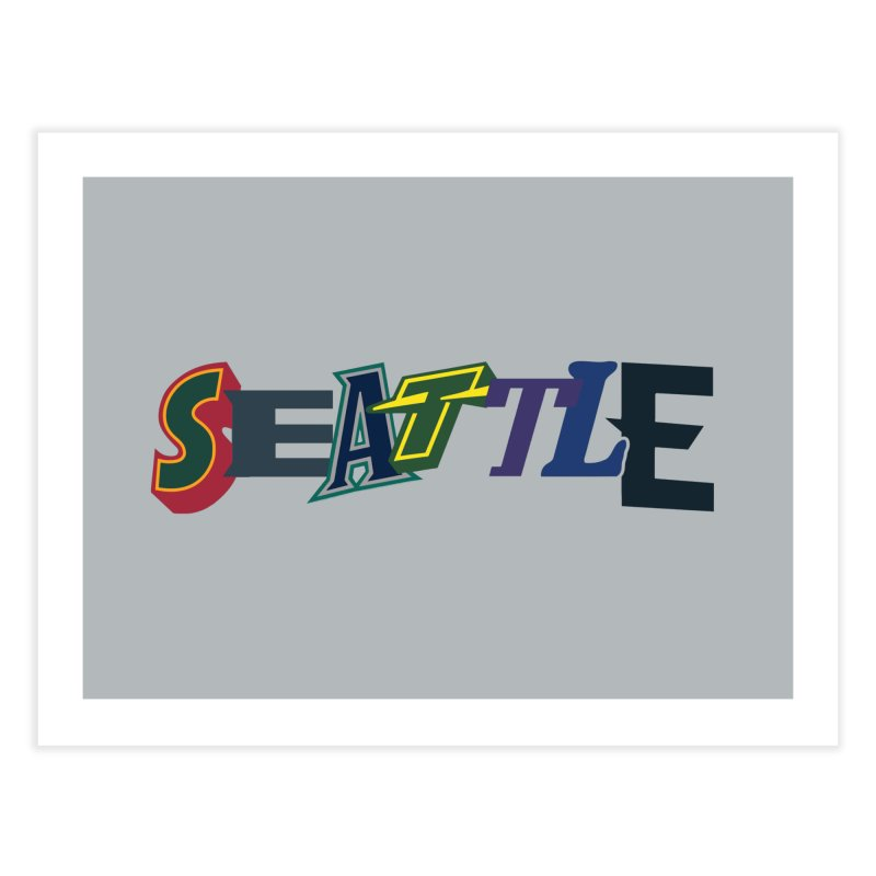 All Things Seattle Home Fine Art Print by Mike Hampton's T-Shirt Shop