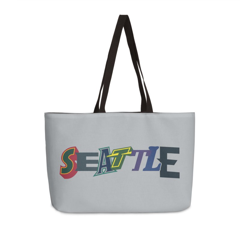 All Things Seattle Accessories Weekender Bag Bag by Mike Hampton's T-Shirt Shop
