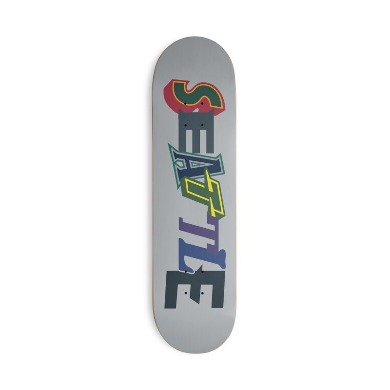 All Things Seattle Accessories Deck Only Skateboard by Mike Hampton's T-Shirt Shop