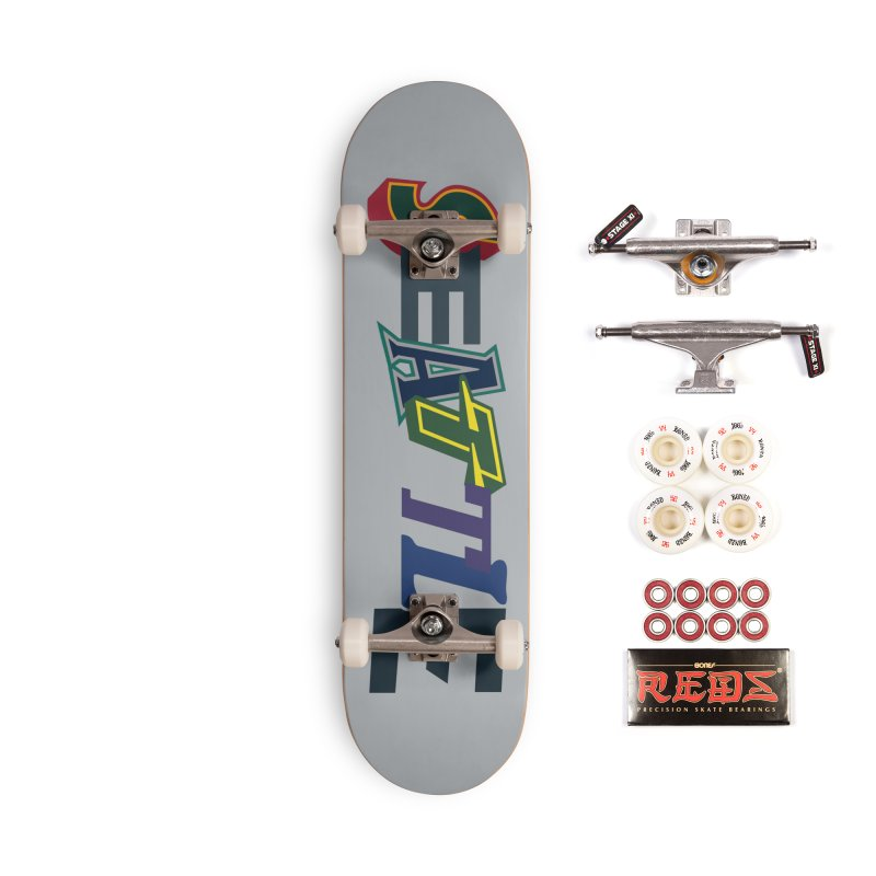 All Things Seattle Accessories Complete - Pro Skateboard by Mike Hampton's T-Shirt Shop