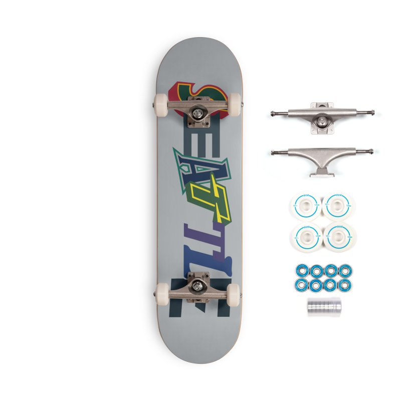 All Things Seattle Accessories Complete - Basic Skateboard by Mike Hampton's T-Shirt Shop