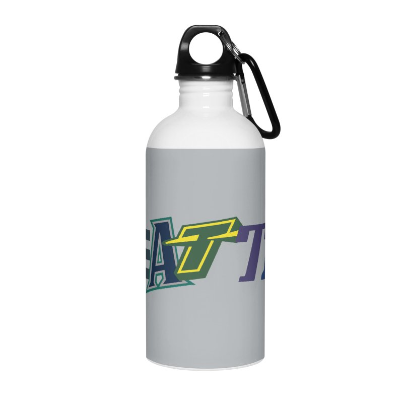 All Things Seattle Accessories Water Bottle by Mike Hampton's T-Shirt Shop