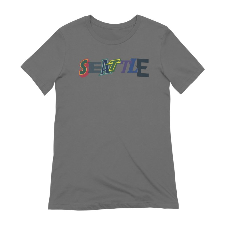 All Things Seattle Women's Extra Soft T-Shirt by Mike Hampton's T-Shirt Shop