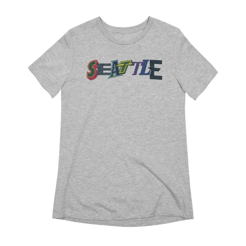 All Things Seattle Women's T-Shirt by Mike Hampton's T-Shirt Shop