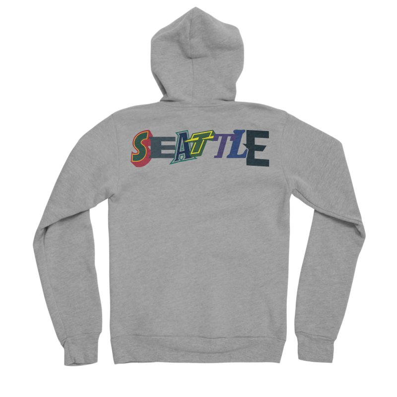 All Things Seattle Women's Sponge Fleece Zip-Up Hoody by Mike Hampton's T-Shirt Shop