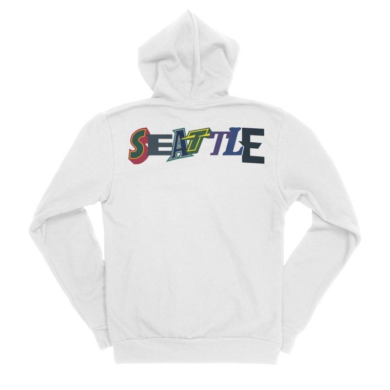 All Things Seattle Men's Sponge Fleece Zip-Up Hoody by Mike Hampton's T-Shirt Shop