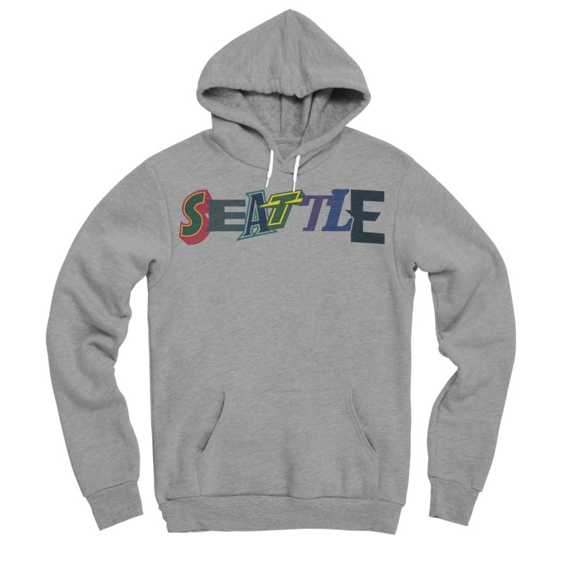 All Things Seattle Women's Sponge Fleece Pullover Hoody by Mike Hampton's T-Shirt Shop