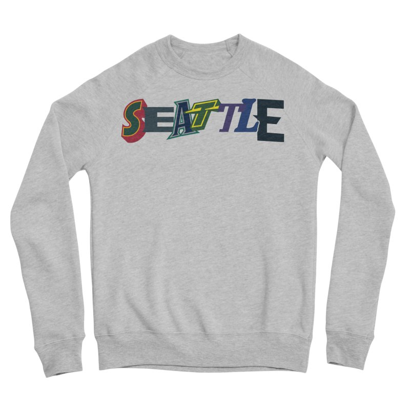 All Things Seattle Men's Sponge Fleece Sweatshirt by Mike Hampton's T-Shirt Shop