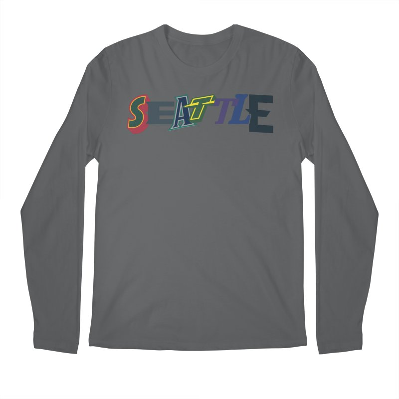 All Things Seattle Men's Longsleeve T-Shirt by Mike Hampton's T-Shirt Shop