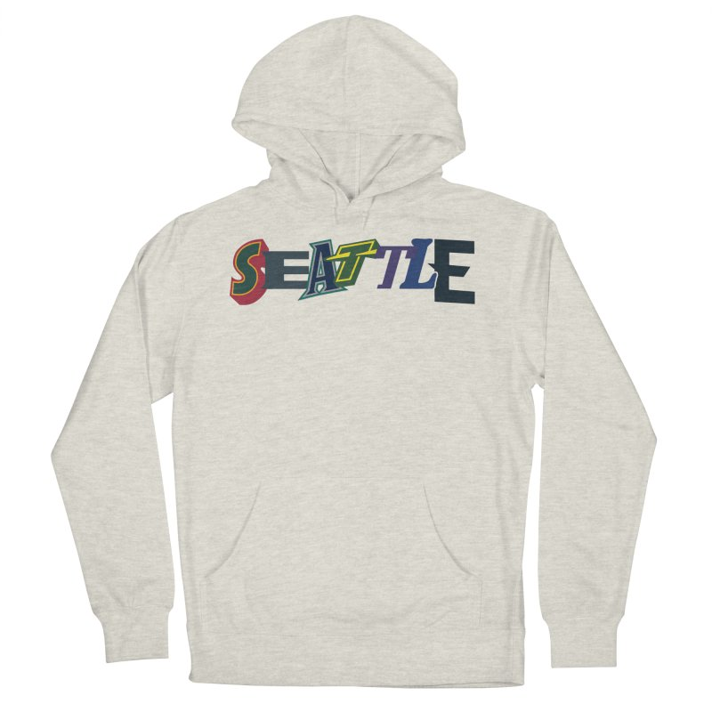 All Things Seattle Women's French Terry Pullover Hoody by Mike Hampton's T-Shirt Shop