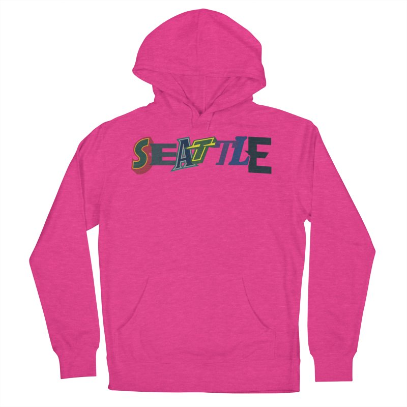 All Things Seattle Men's French Terry Pullover Hoody by Mike Hampton's T-Shirt Shop