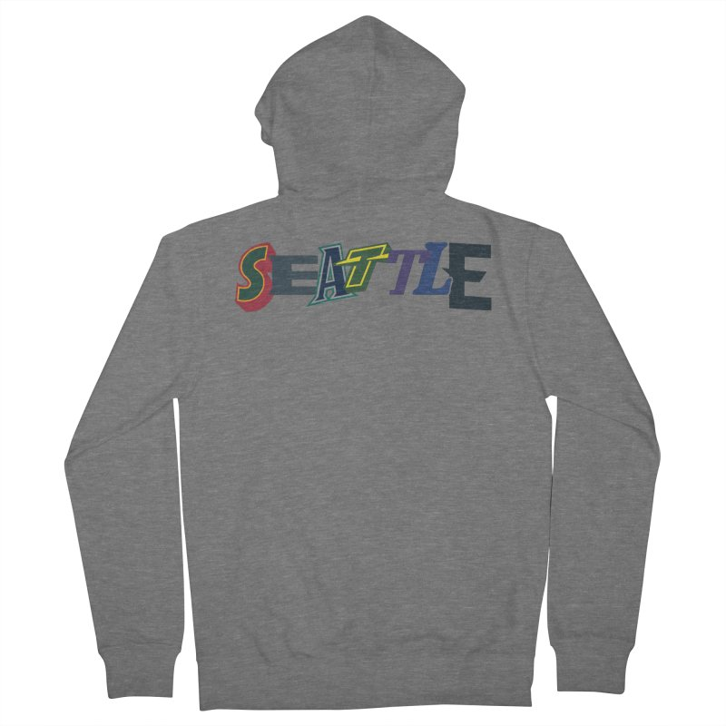 All Things Seattle Women's Zip-Up Hoody by Mike Hampton's T-Shirt Shop