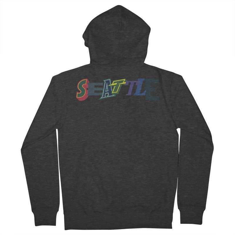All Things Seattle Men's French Terry Zip-Up Hoody by Mike Hampton's T-Shirt Shop