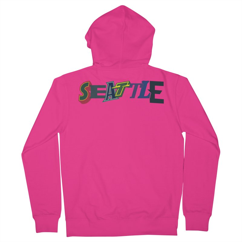 All Things Seattle Men's Zip-Up Hoody by Mike Hampton's T-Shirt Shop