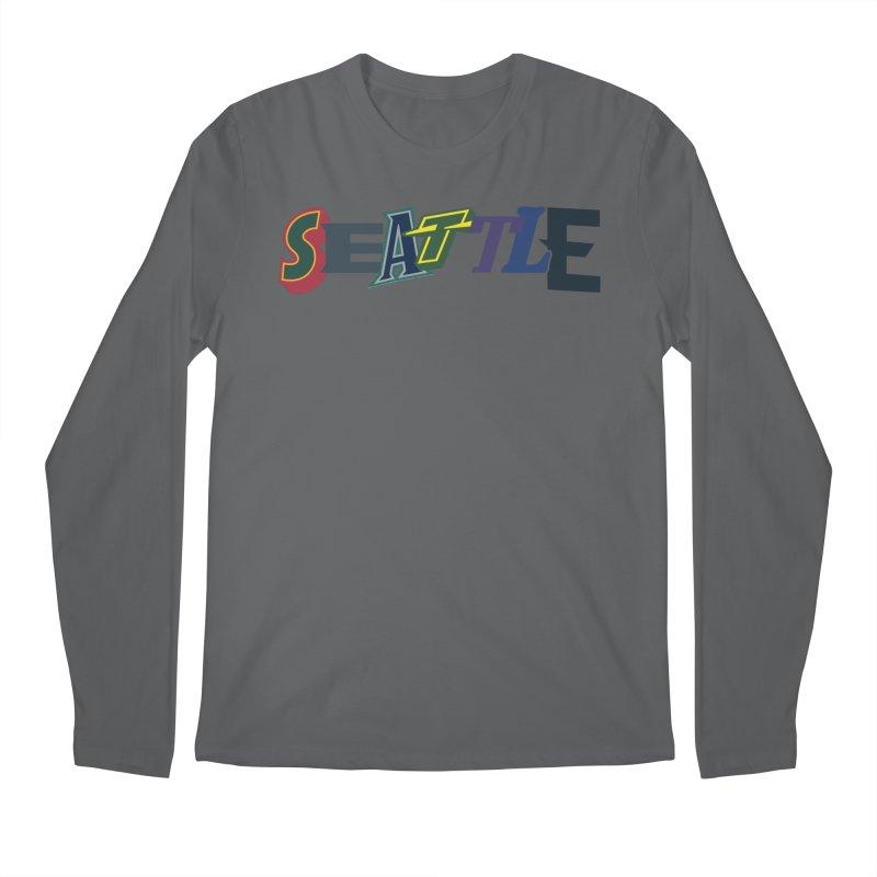 All Things Seattle Men's Longsleeve T-Shirt by Mike Hampton's T-Shirt Shop
